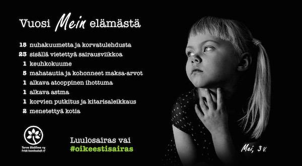 Kuva: #Oikeestisairas-kampanja